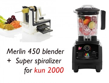 PAKKETILBUD! MERLIN 450 BLENDER 2 HK + SUPER SPIRALIZER